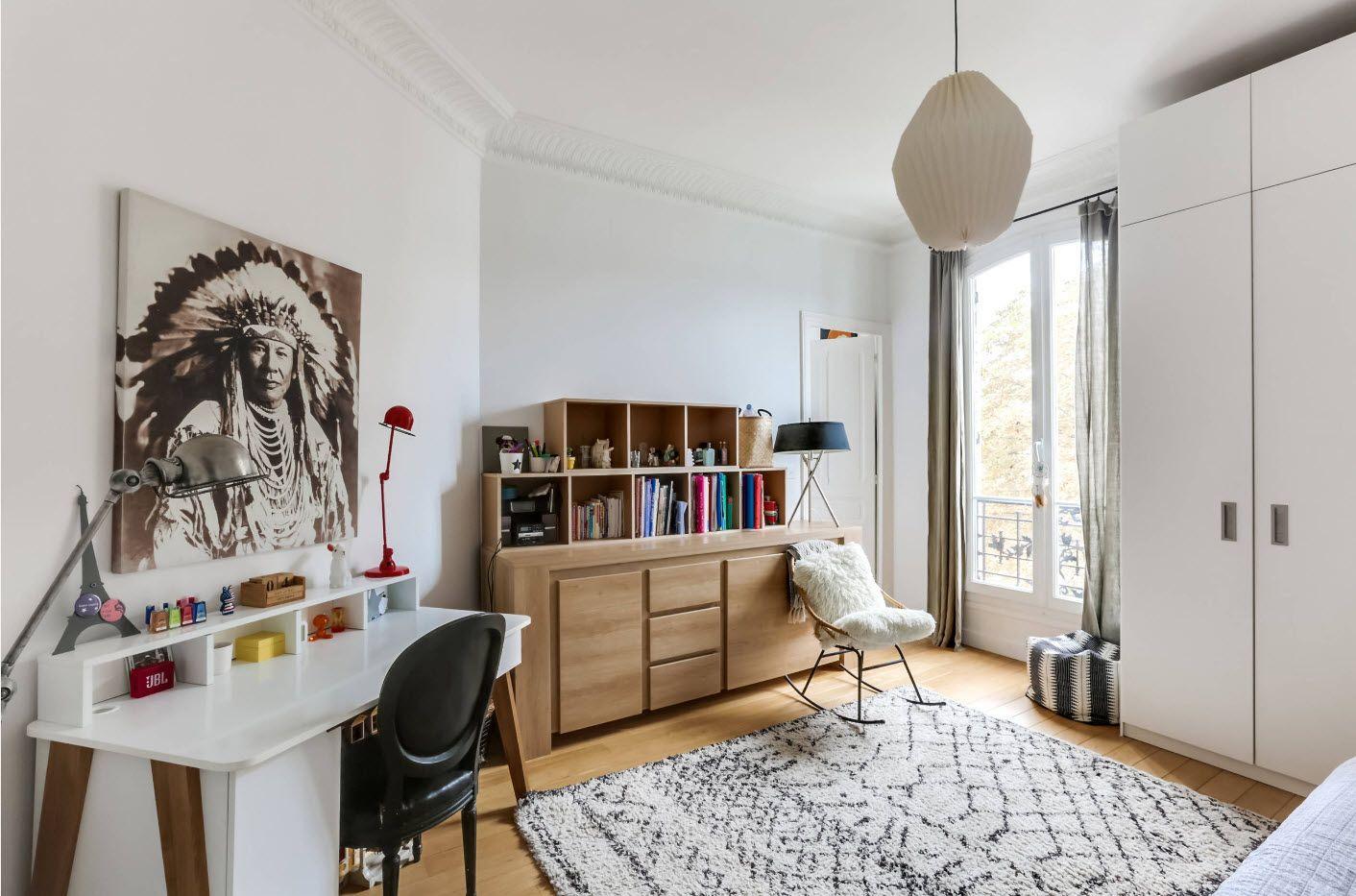 Scandinavian style acetic interior