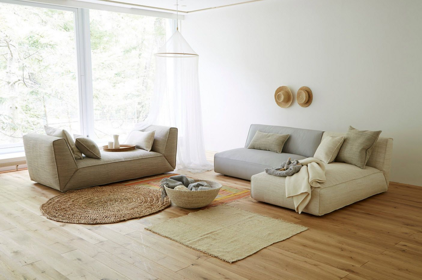 Gray and white classic combination for modern Scandinavian room