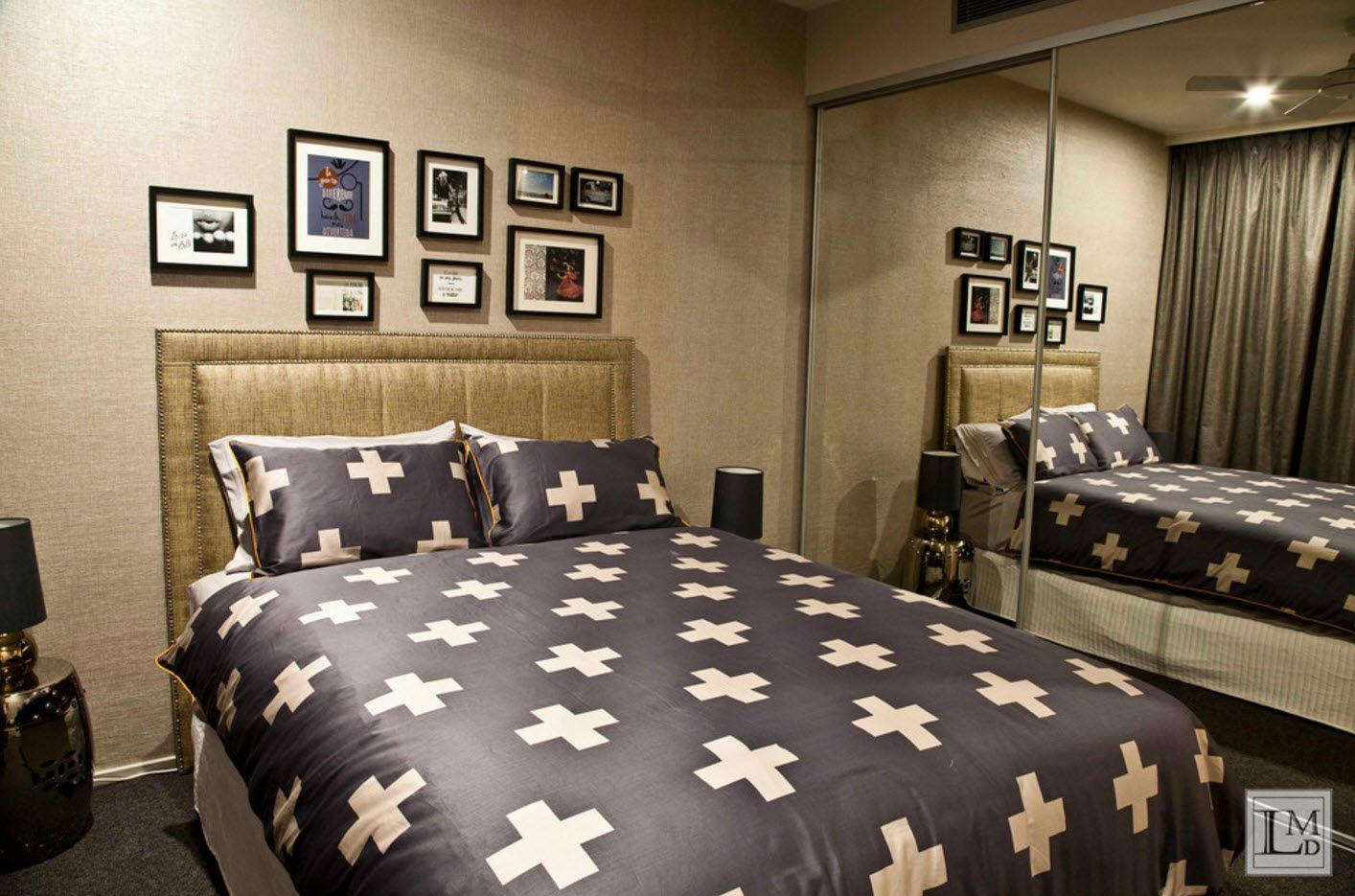 Bed linen for modern bedroom with pluses