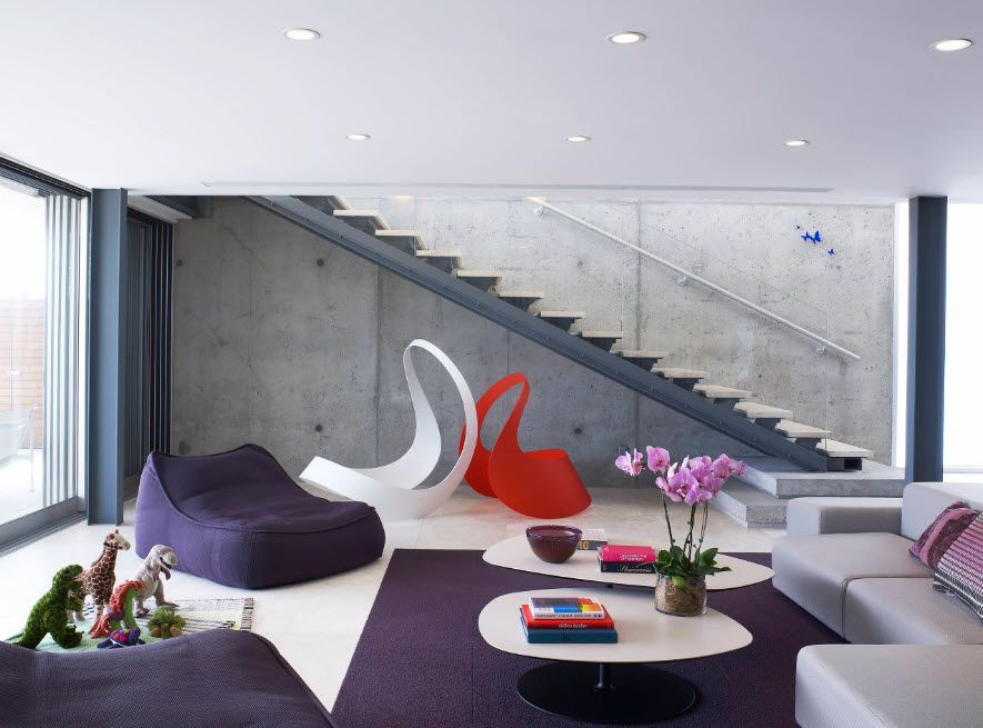 Bean Bag Chair Into the Interiors and Landscape Design of Modern Home with futuristically formed seats