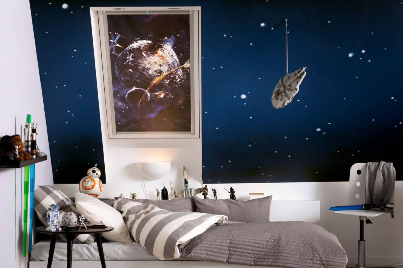 Space theme for kids' room