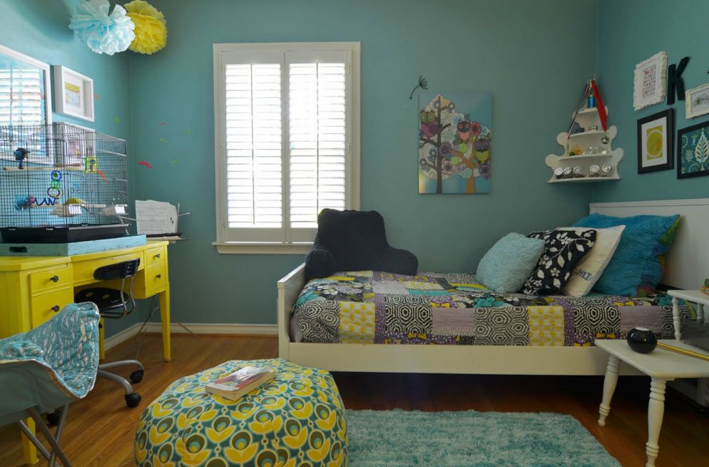 Nice artificial color of neutral palette for kids' room decoration