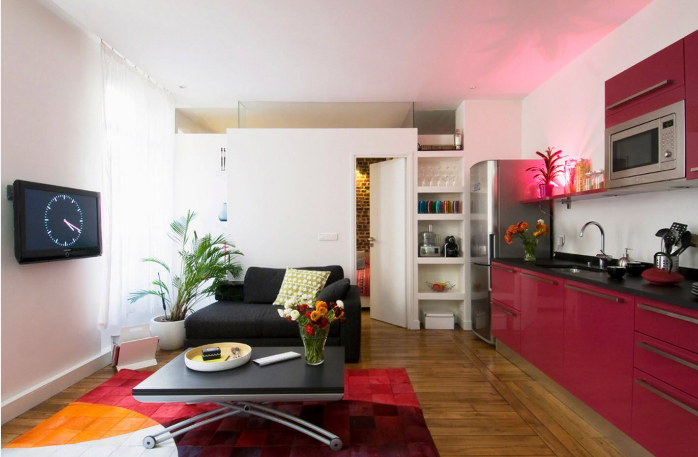 Pinky studio design in modern style