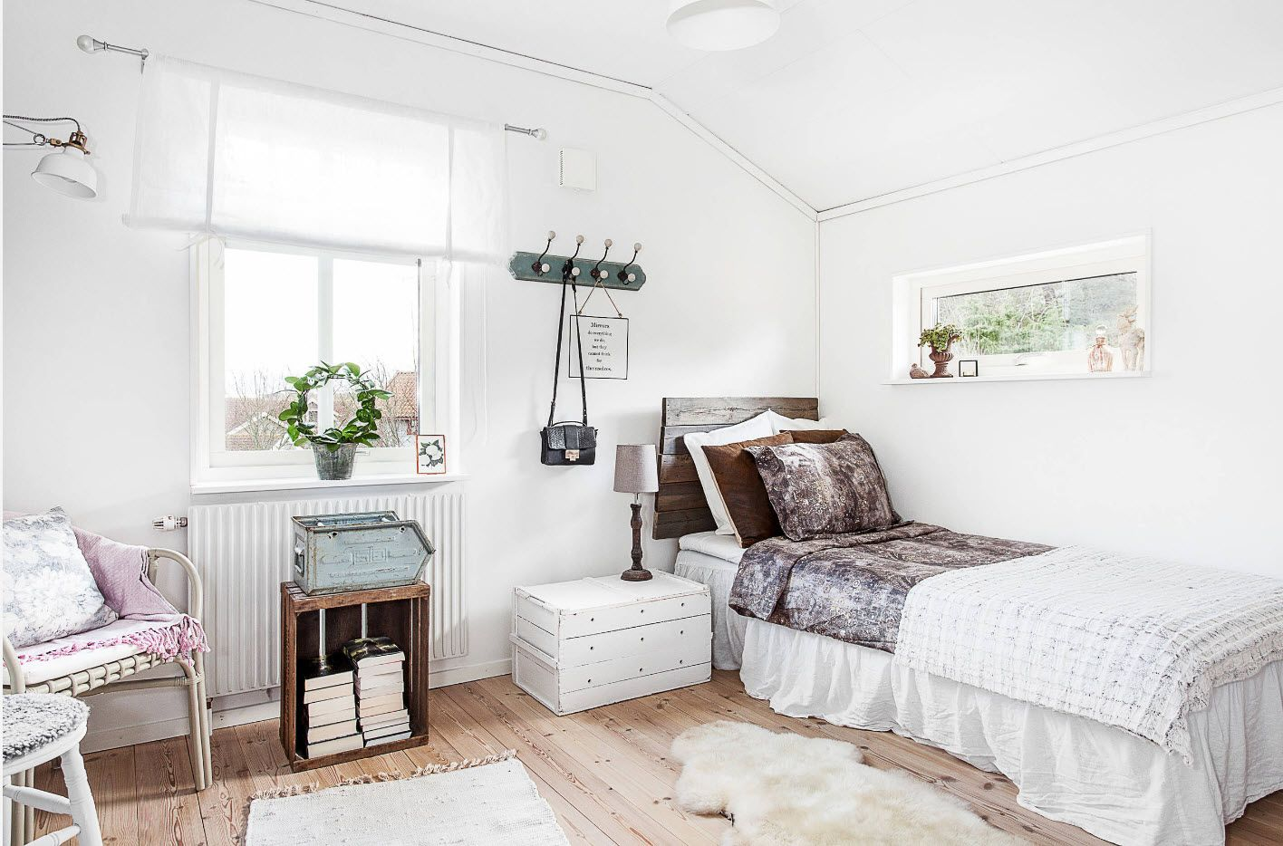 Modern Bedroom Interior Decoration & Design Ideas 2017. Typical Scandinavian style with natural motifs