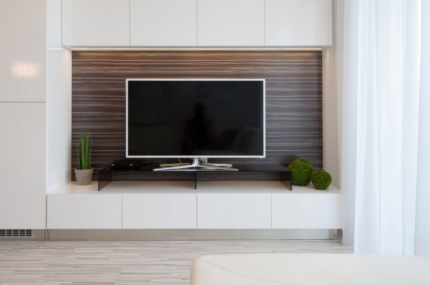 TV-set within the modern apartment space