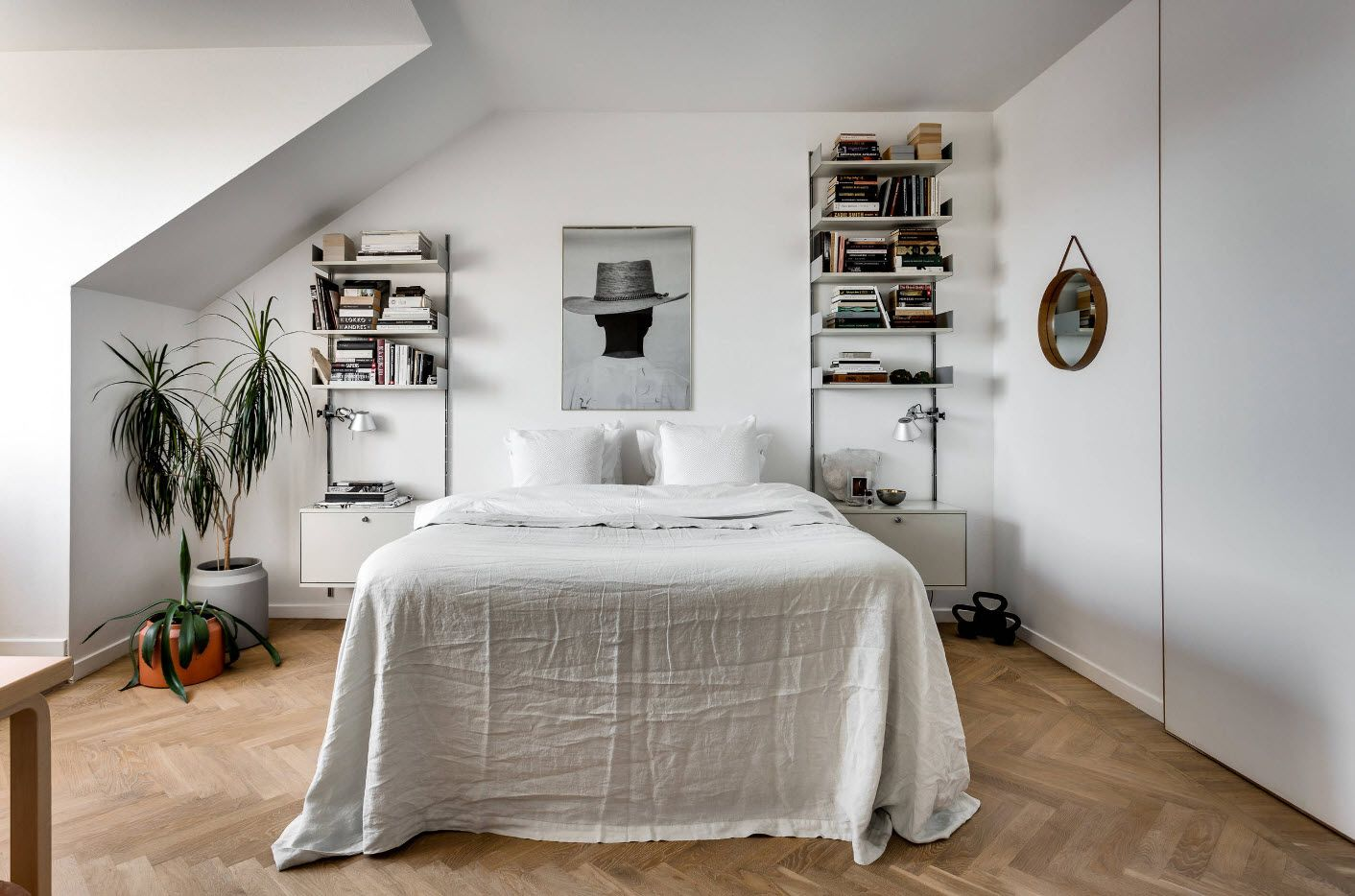 Modern Bedroom Interior Decoration & Design Ideas 2017. Scandinavian style in the loft small space
