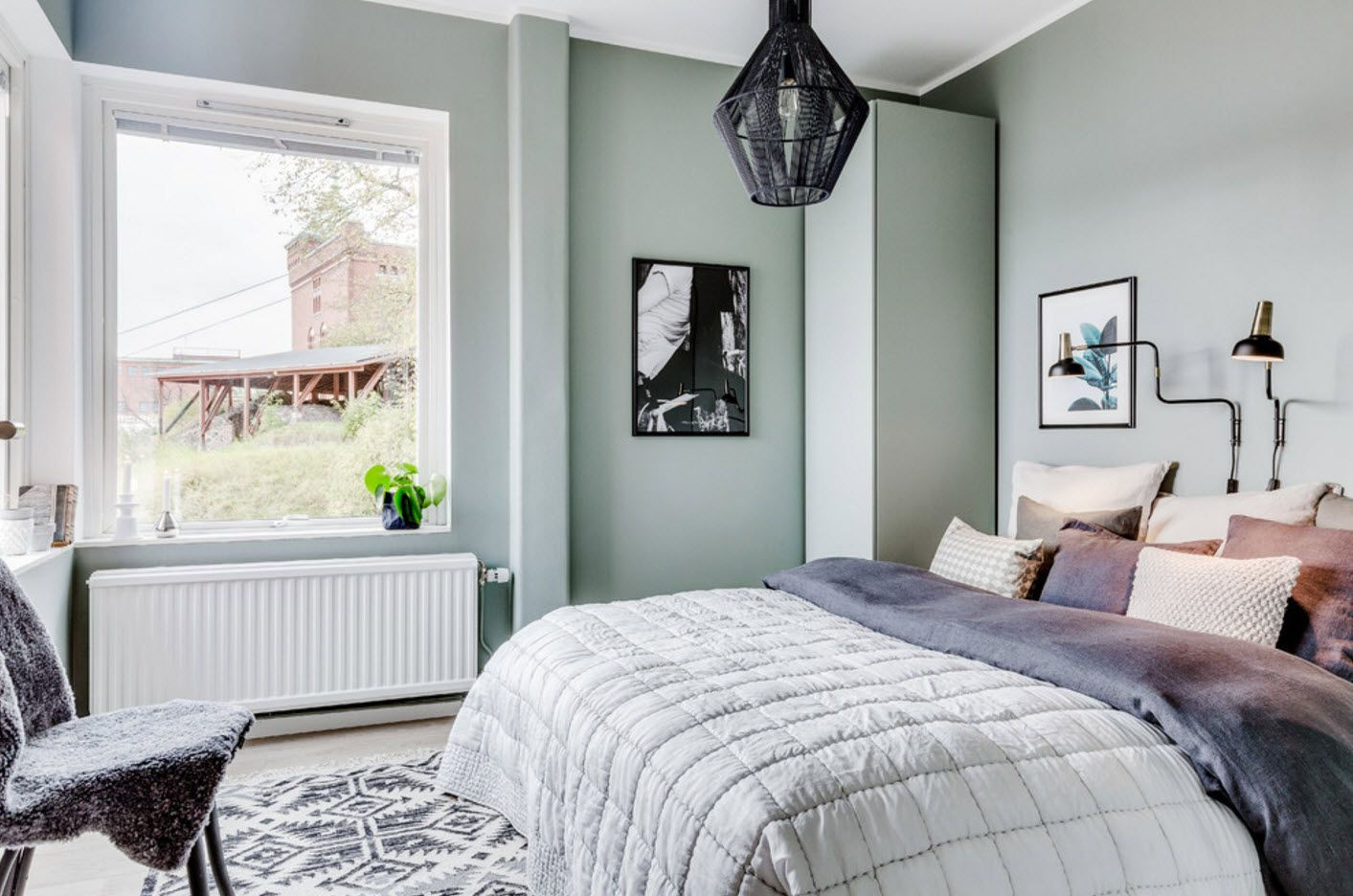 Olive green color palette for painted walls