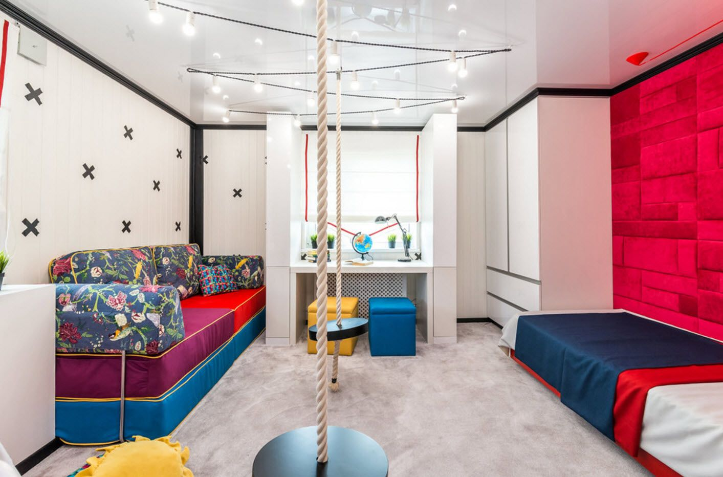Modern stylish activity room for kids