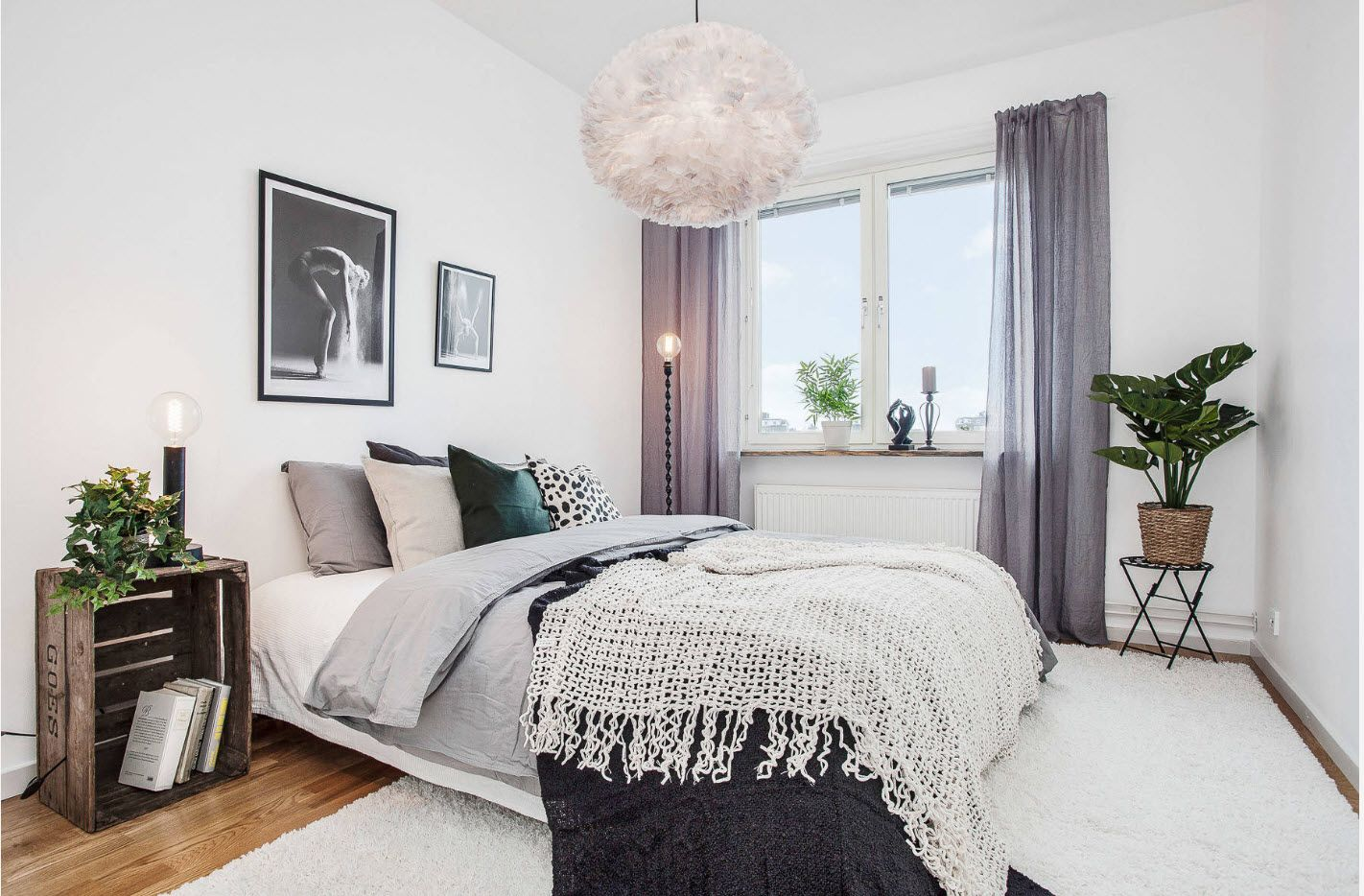 Classic interior in modern large bedroom