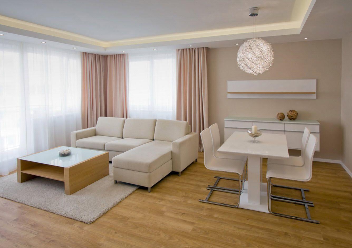 Creamy pastel tones for classic living room