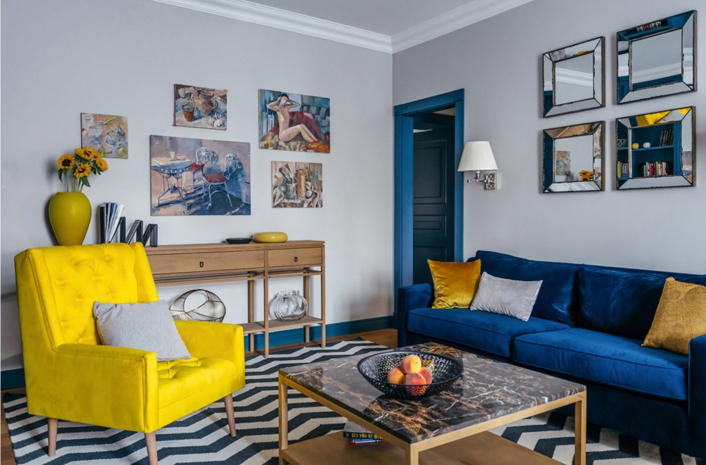 Affable modern interior decoration of the sitting room