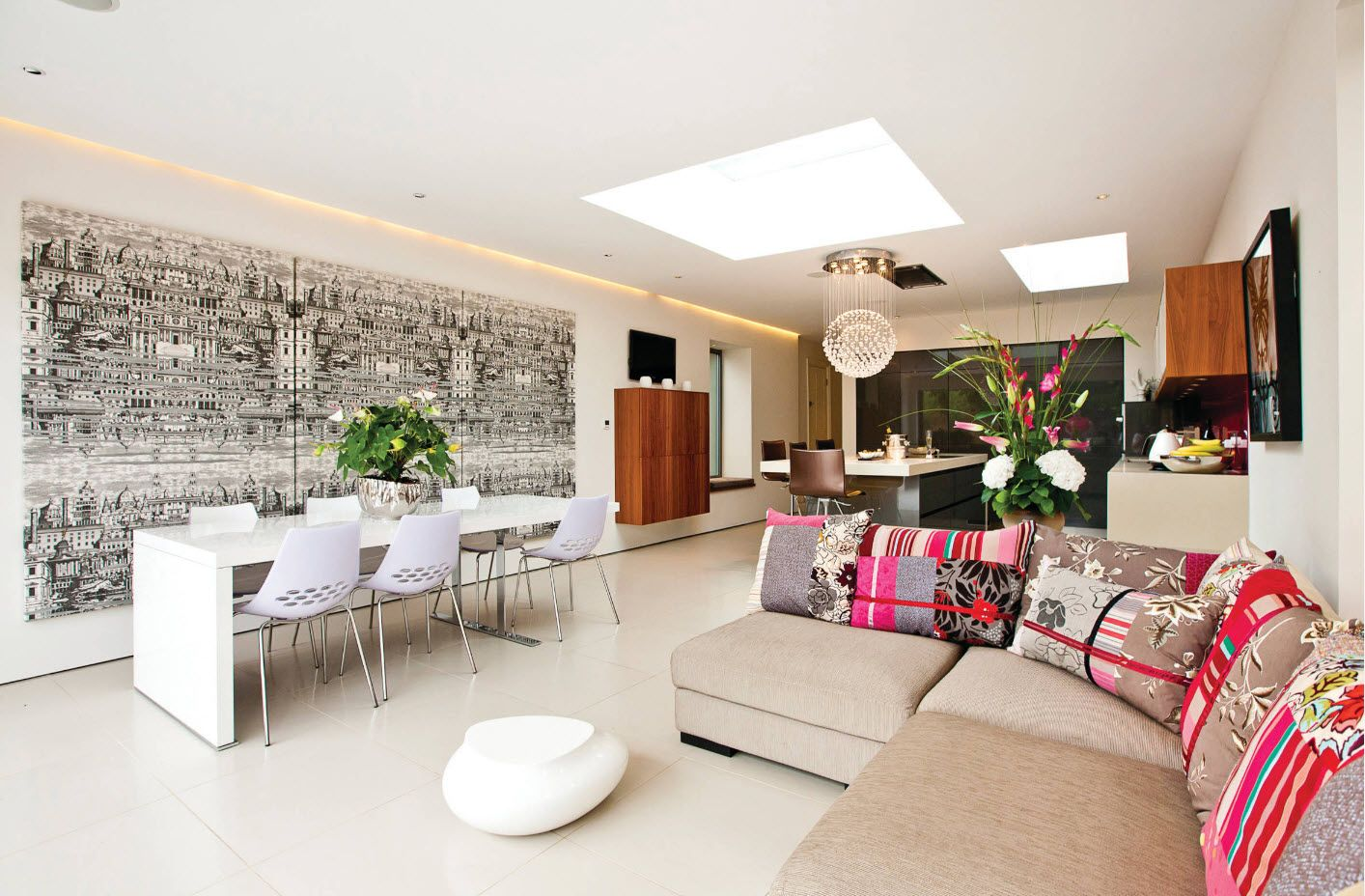 Ecological modern style to decorate spacious place