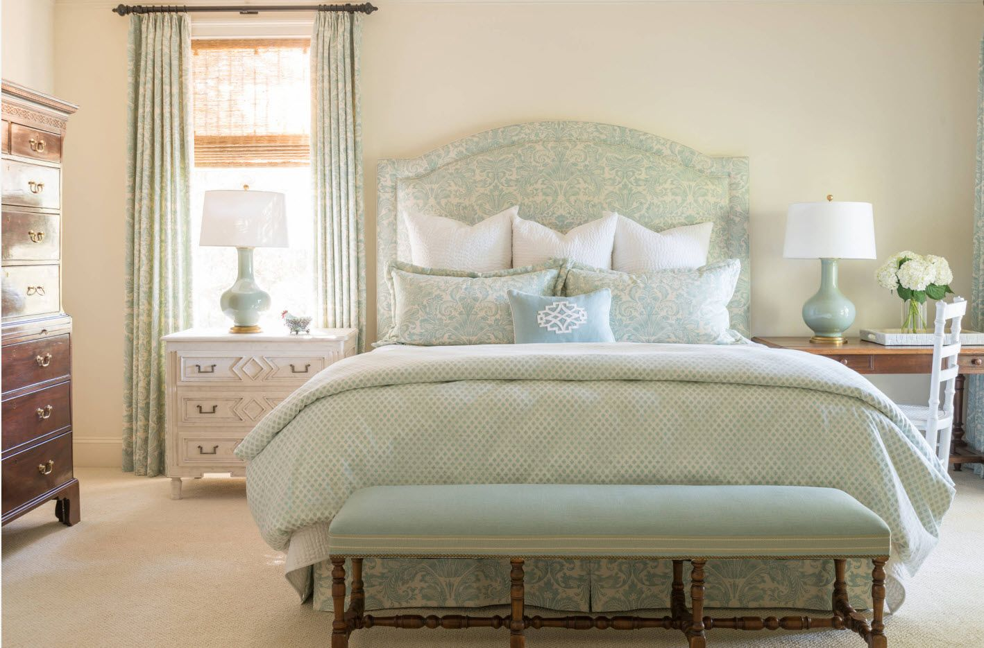 Classic light olive bed