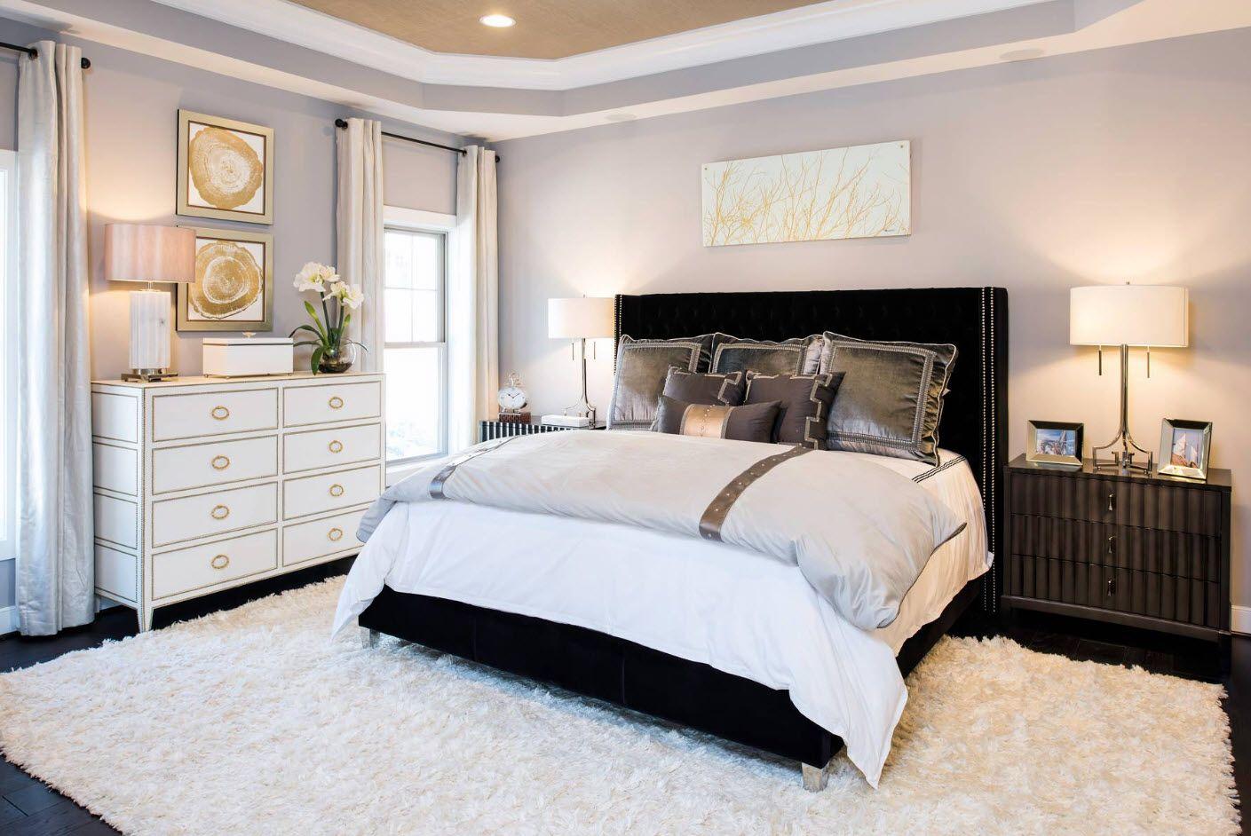 Contemporary interior of the bedroom
