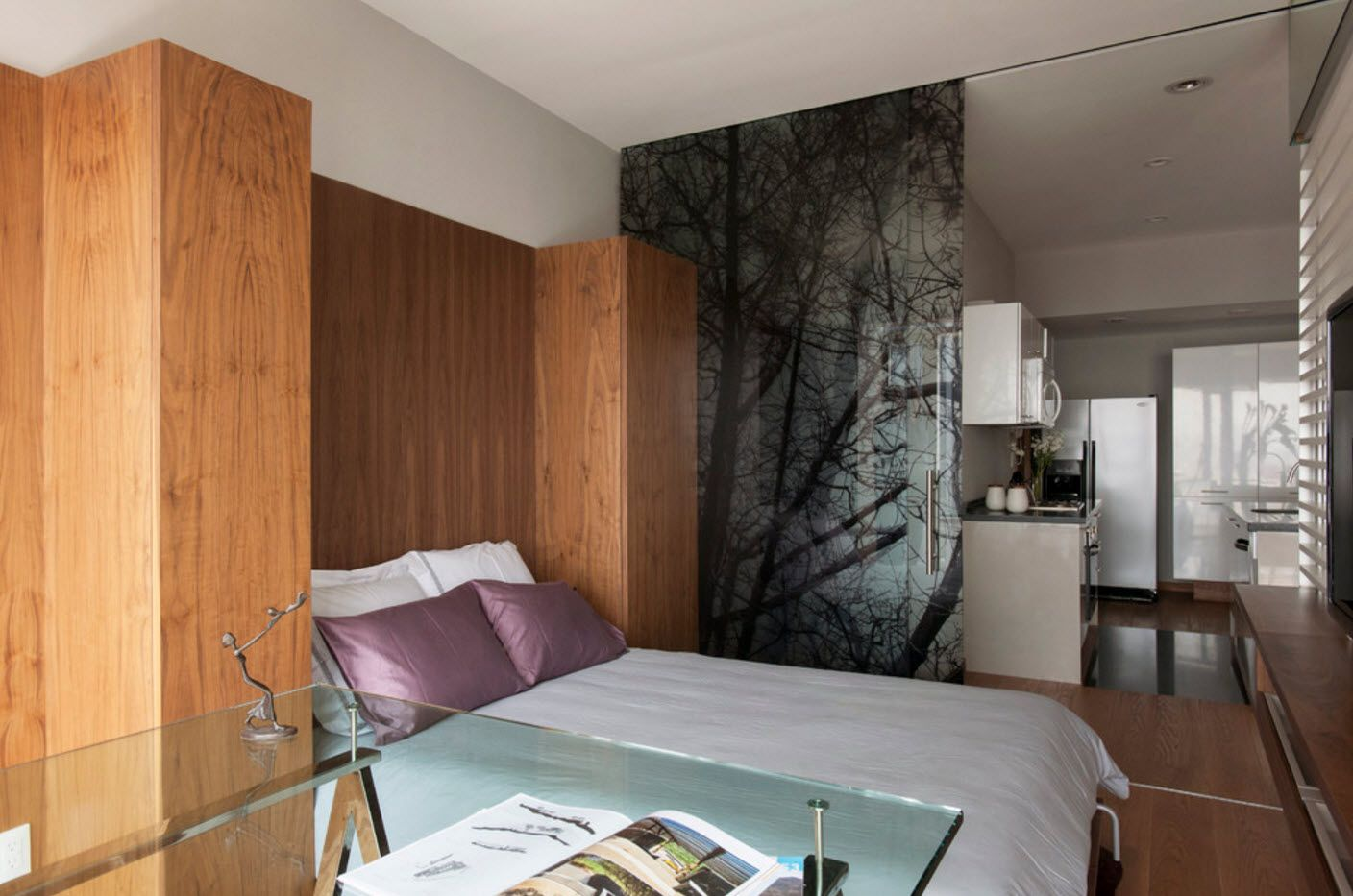 Nice wooden surfaces in the bedroom