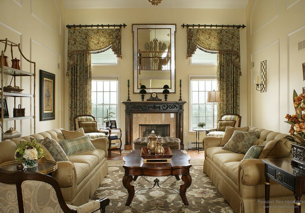 Victorian Interior Design Style. Description, History, Examples and Photos: nice attractive creamy color scheme for the living