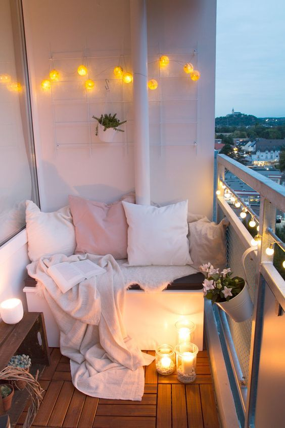 Sleeping and relaxing place at the open balcony