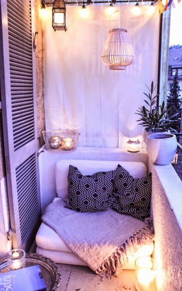 100+ Trendy Design Ideas of Balcony and Loggia 2017 with Photos. Comfortable place for two