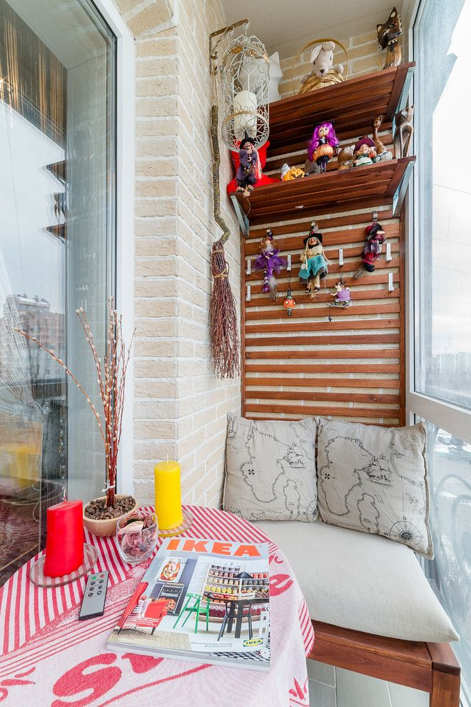 Cozy seating place at the balcony