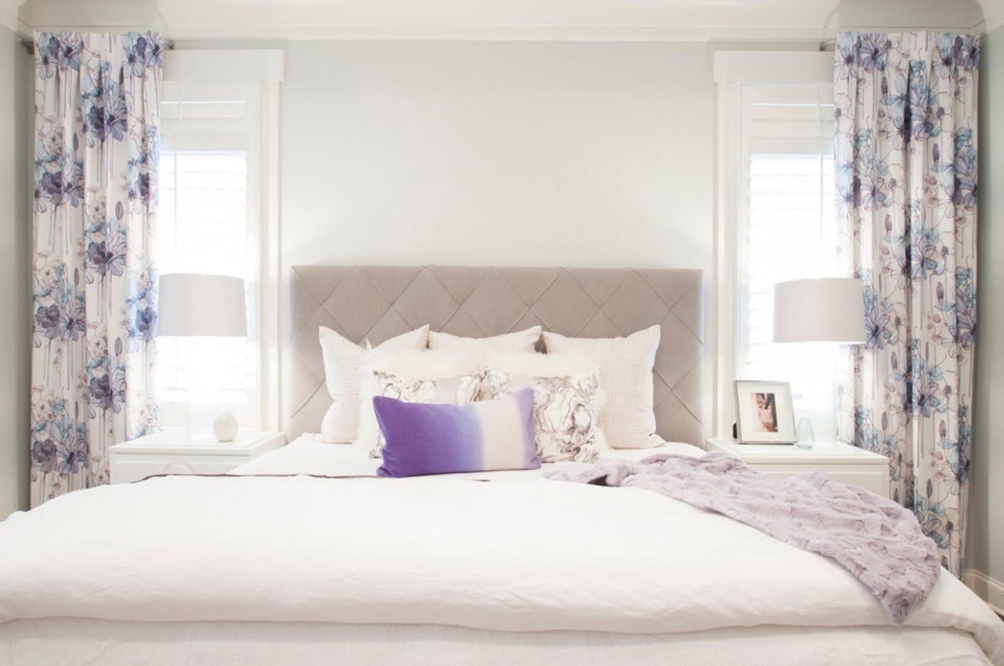 White minimalism at the private house's bedroom