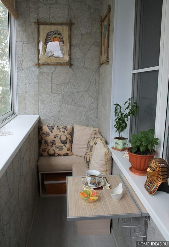 Marble texture for the modern balcony interior