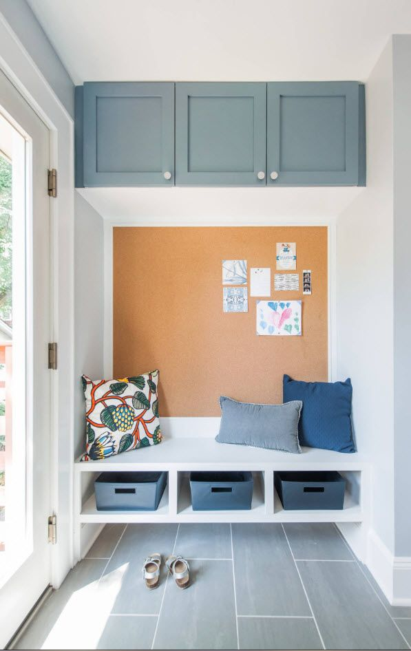 Bluish tints in Scandinavian styled entry