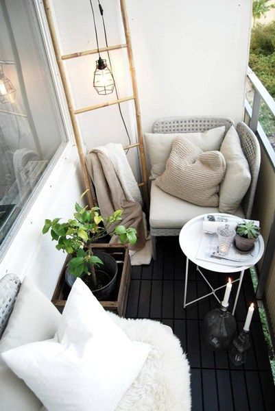 100+ Trendy Design Ideas of Balcony and Loggia 2017 with Photos. Cozy atmosphere with greenery