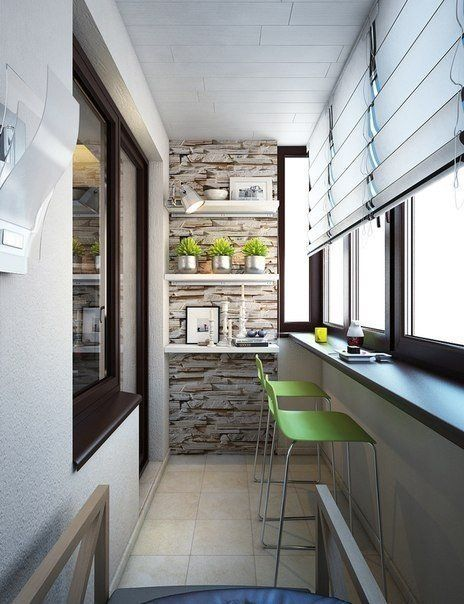 Stone texture in the modern balcony design