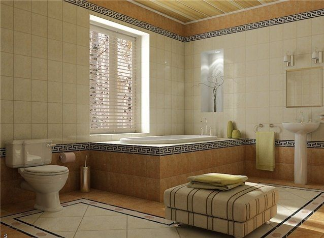 Luxurious Ancient Greek styled bathroom