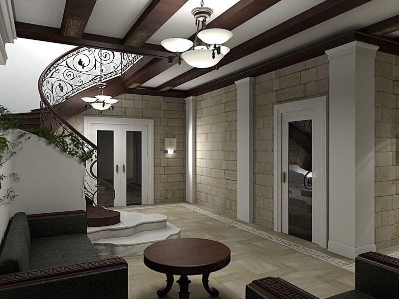 Romanesque interior decoration style