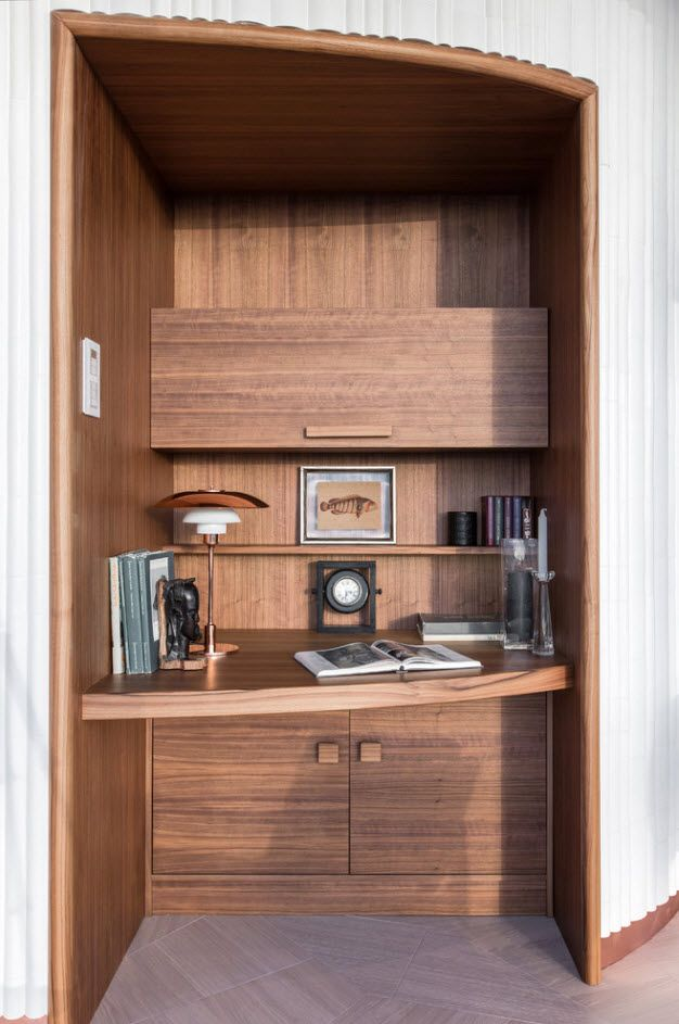 Alder wood trimming for the modern home office 2017