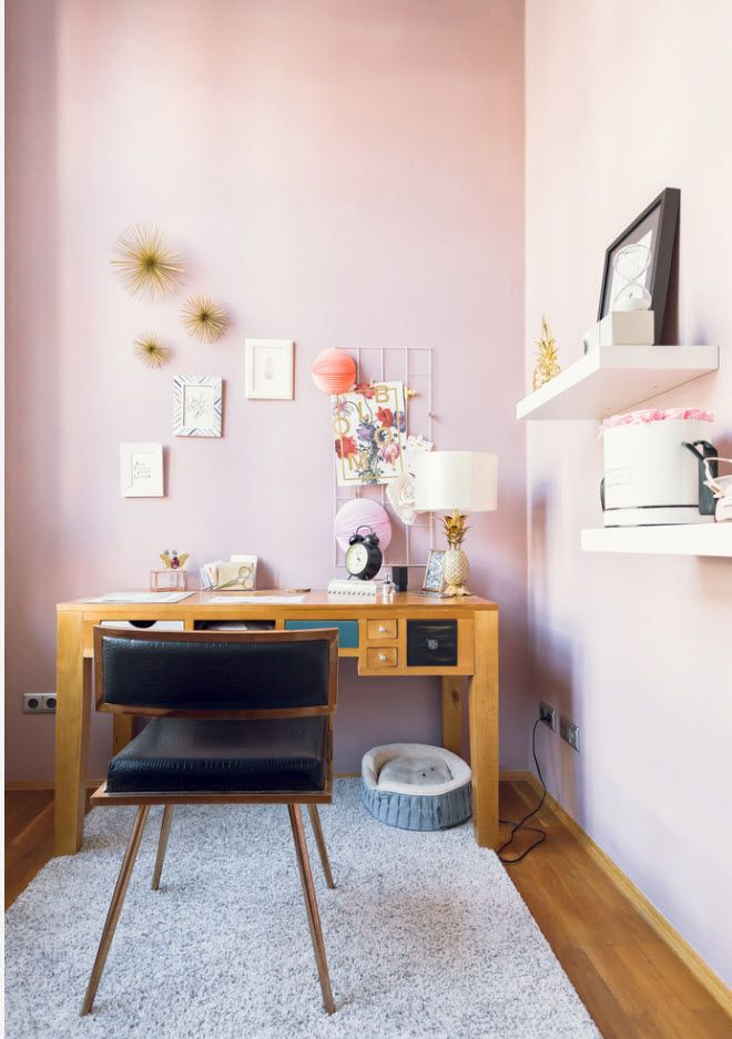 2017 design for the really pretty pinky home office