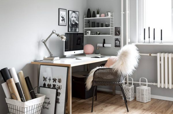 Fluffy coat to the more prolific work at the home modern office