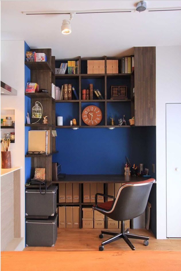Bluish accents for modern home office