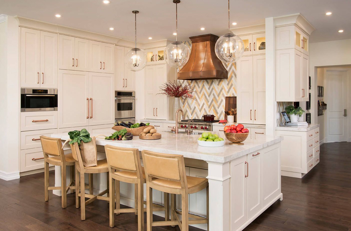 40 Square Feet Kitchen Modern Design Ideas & Layout Types. Rustic styled room with dome extractor