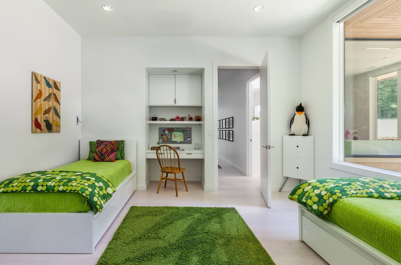 Green keynote in the bedrom's design