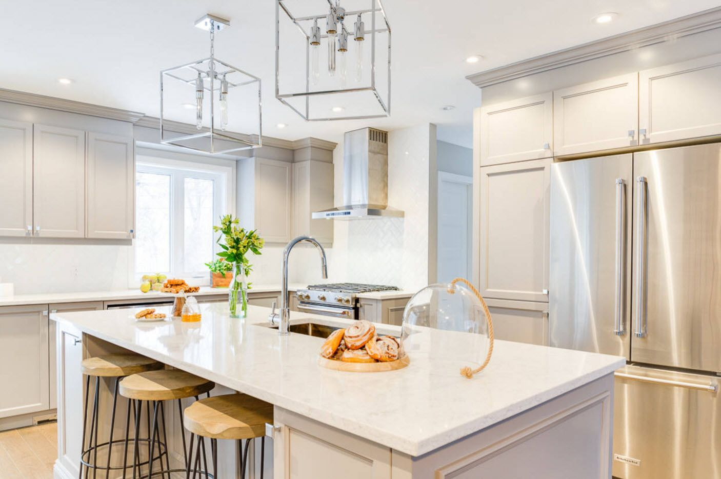 Rustic and modern styles mix in kitchen interior 2017