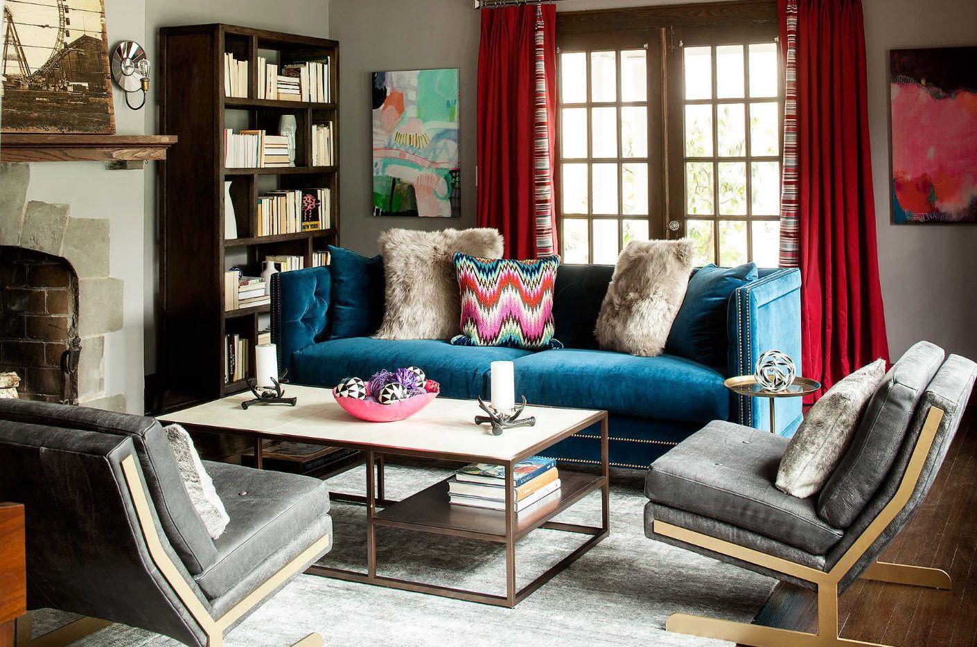 Vintage design for the dark living room