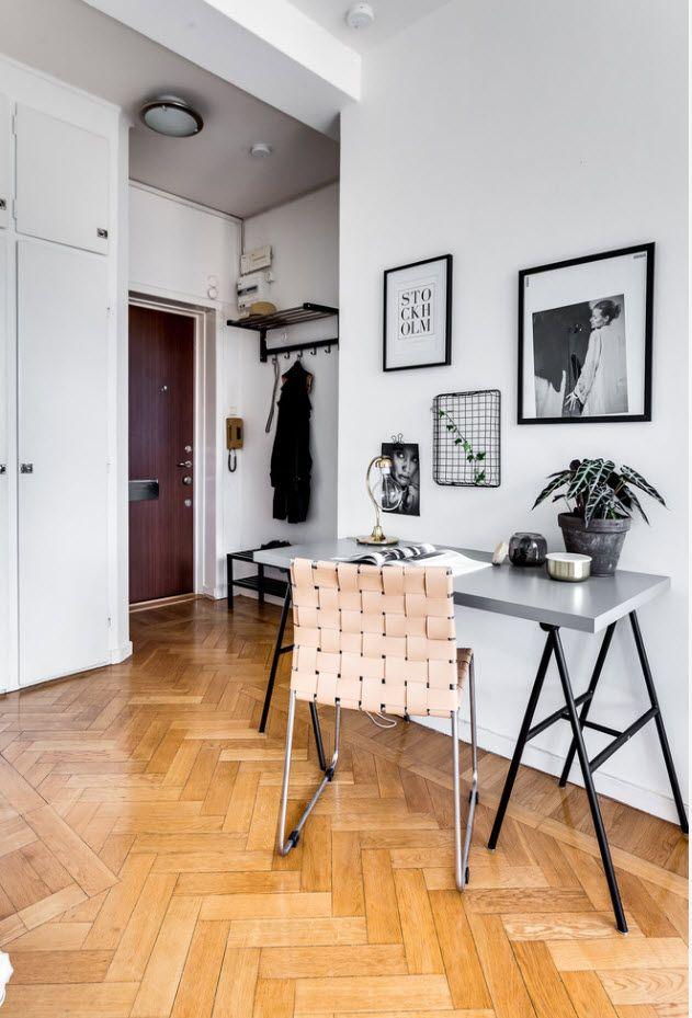 Top 100 Modern Home Office Design Trends 2017. Modern Scandinavian interpretation in the studio apartment