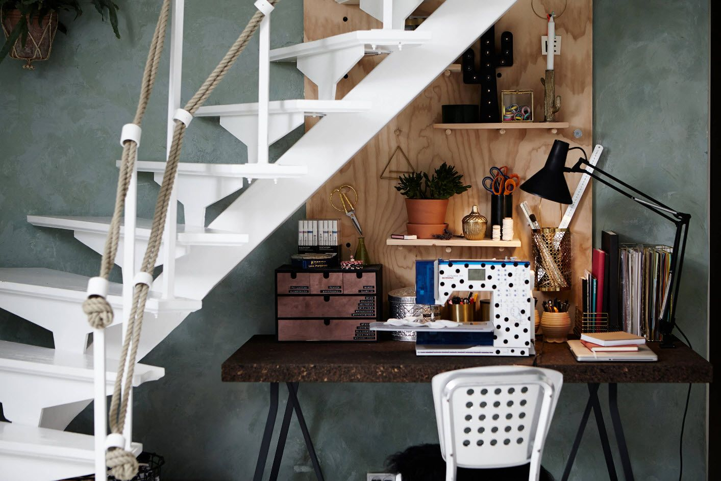 Top 100 Modern Home Office Design Trends 2017. Rustic style with wooden elements for the working space