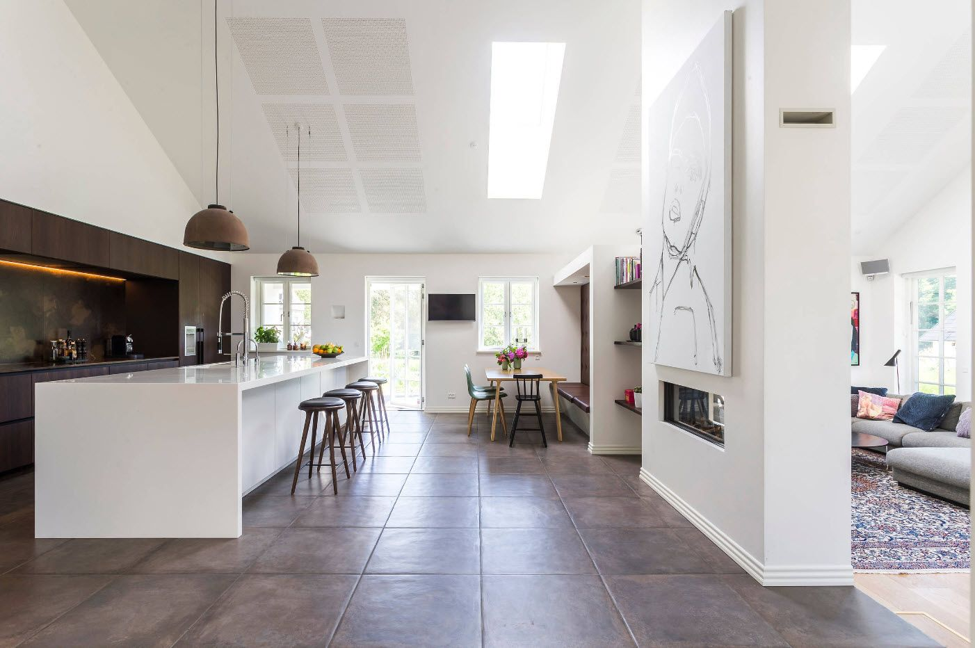 Ultramodern Kitchen Hi Tech Style And White Color Theme For The Cottage Interior