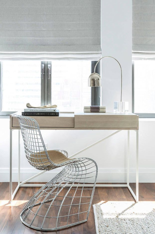 Gorgeous design of the steel frame of chair