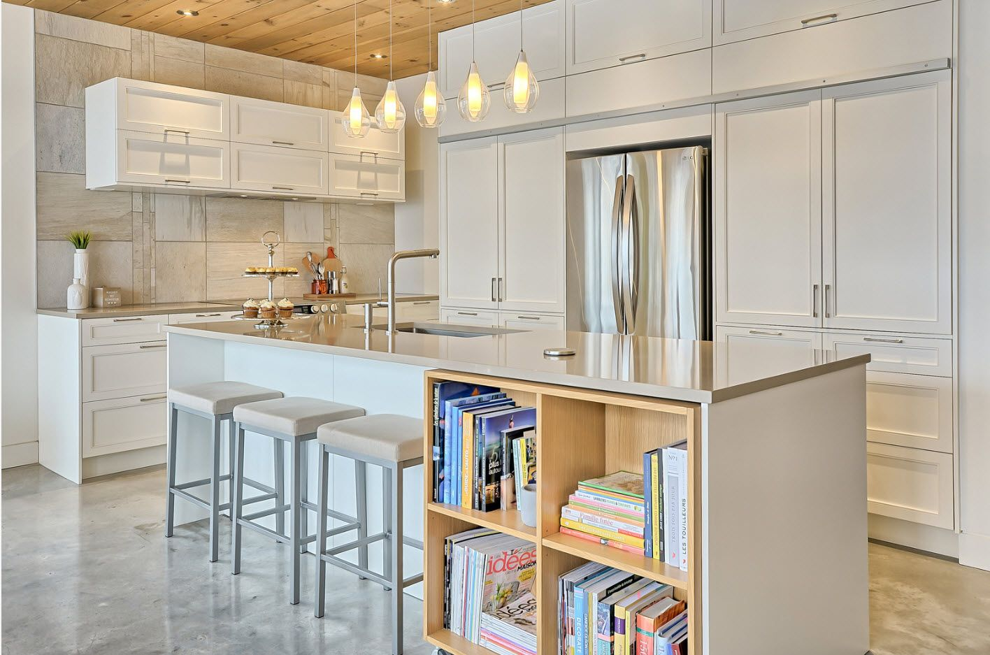 Scandi style touch in the modern Contemporary designed kitchen 2017