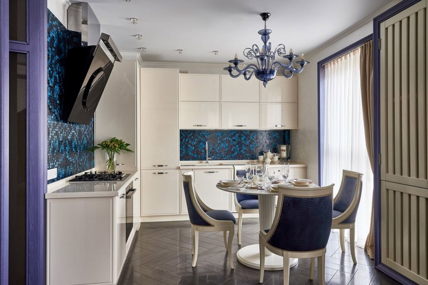 Classic interior with modern accessories looks organic