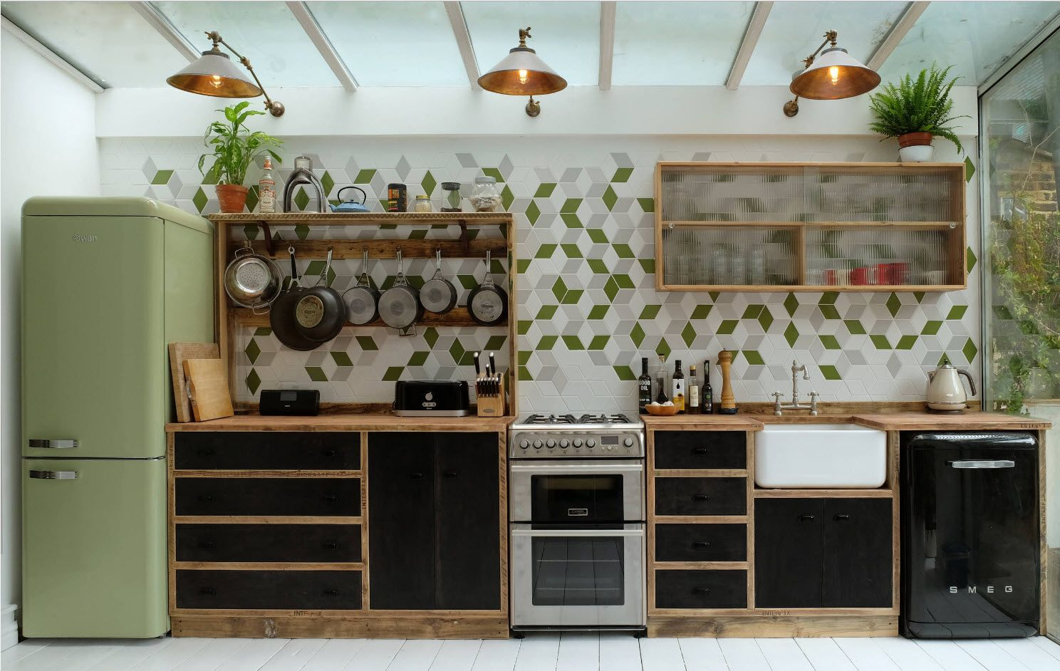 Alternative style for the cottage kitchen