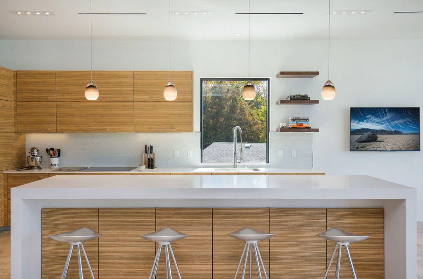 100+ Photo Design Ideas Of Modern, Comfortable IKEA Kitchens. Wooden Island  And Round