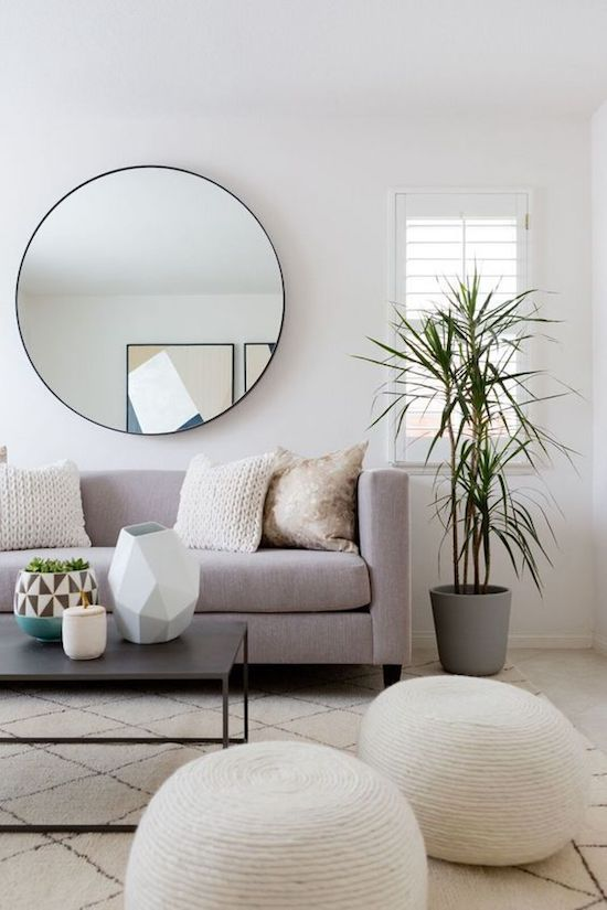 Gray pastel color mix for the casual styled living room