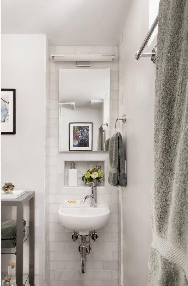 100 Small Bathroom Decoration Modern Design Ideas. White loft style interpretation with open plumbing
