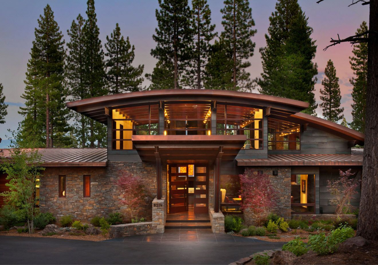 100+ Private House Roofs Beautiful Design Ideas. Vaulted top of the gorgeous combined forrest house