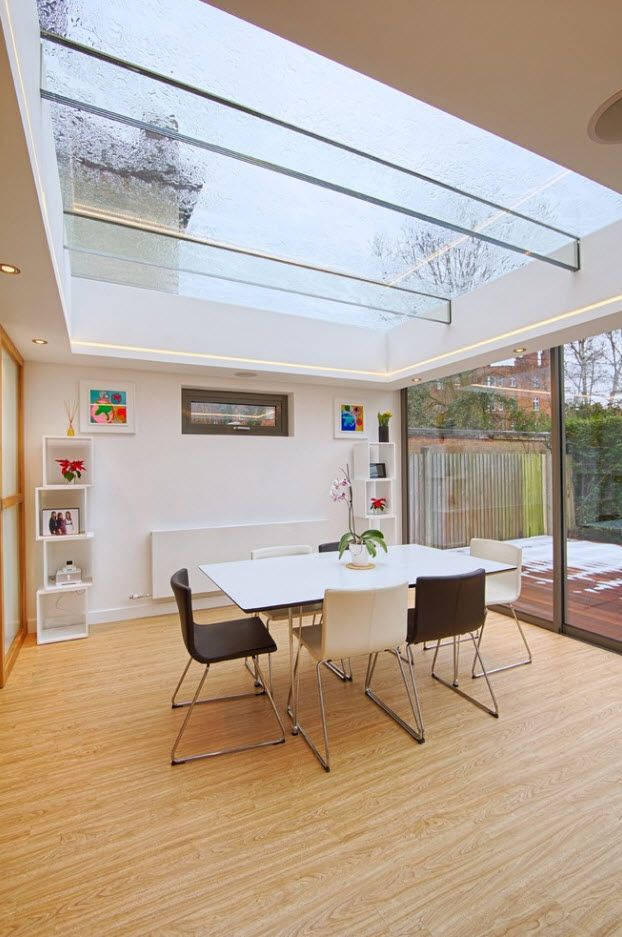 Glass skylight roof for the improvised home office